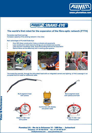 Snake Eye Plumett brošura